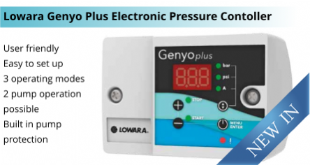 New Lowara Genyo Plus 16A Electronic Pressure Controller